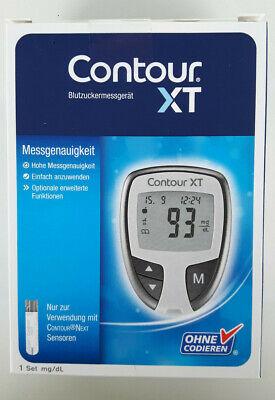 Contour XT Set mg/dl NEU Blutzuckermessgerät Teststreifen Stechhilfe Lanzetten