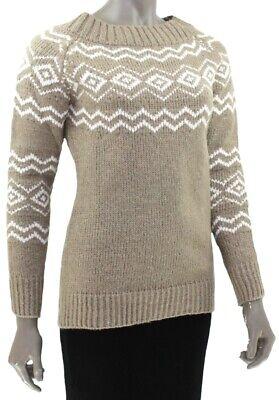 KERSH Boat Neck JUMPER Wool Blend Sweater GREYSTONE Pullover OPAL Fair Isle