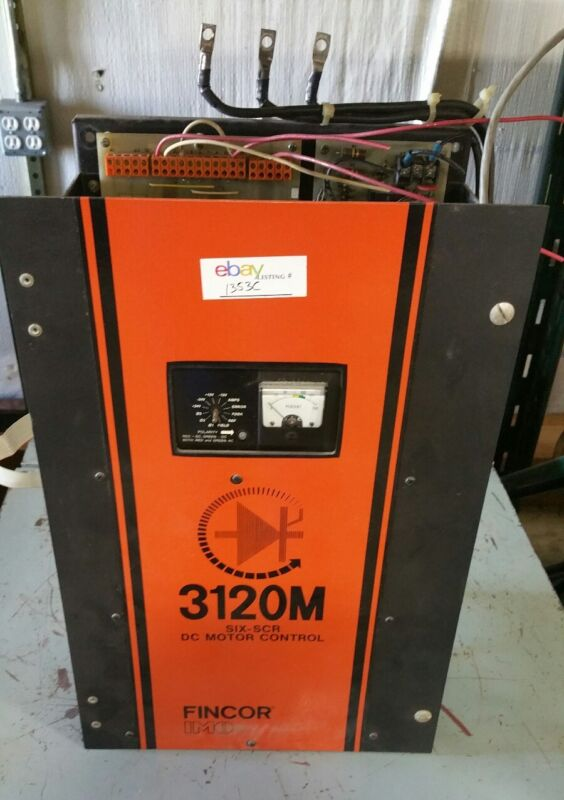 FINCOR 3120M SIX-SCR DC Motor Drive Controller 20HP 460V  #1353C B33PR3