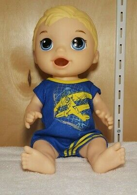 "2015 Baby Alive SNACKIN LUKE boy doll with Romper 12"" for sale  Mulberry"