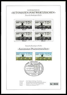 BERLIN ATM SCHWARZDRUCK 1987 ETB BLACK PRINT LTD ze45