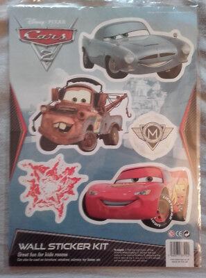 Disney cars wall stickers Decor Lightning McQueen  Disney Pixar CARS A4 Sheet