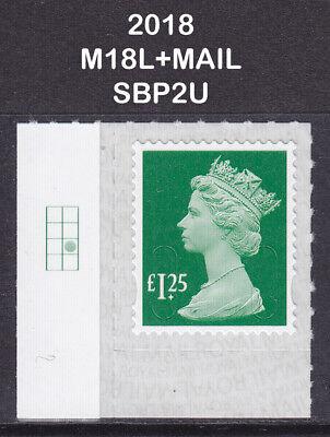 Holly Grid (2018 Machin £1.25 Holly Green SG U2938 M18L+MAIL Grid Cylinder Col2 Row3 SBP2u)