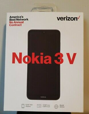 🔥BRAND NEW🔥 Verizon Prepaid  Nokia 3V 16GB Memory Prepaid Cell Phone - Blue