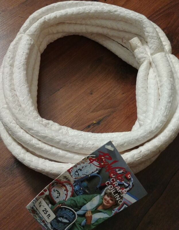 """NEW! Rag Works Craft Coiling Cord New 3/4"""", 25 feet"""