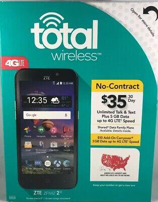 Total Wireless ZTE ZFIVE 2 LTE No Contract Prepaid Smartphone FREE SHIPPING