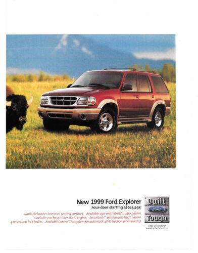 1999 Ford Explorer Magazine Print Ad