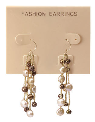 Hanging Tan Plastic Earring Cards 300 2 12 X 2 J- Channel Display Card Hang