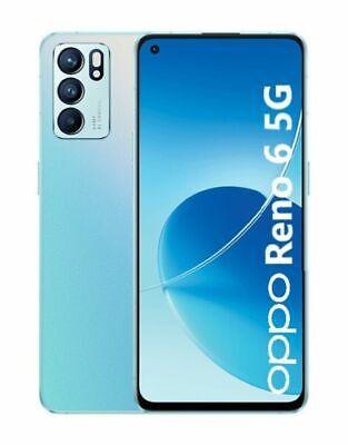 "Cellulare Smartphone OPPO Reno 6 5G Dual Sim 6,4"" 128GB+8GB RAM Arctic Blue"