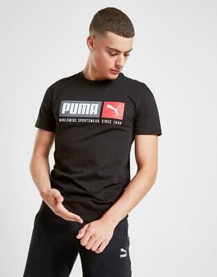 New Puma Men's Box Logo Short Sleeve T-Shirt