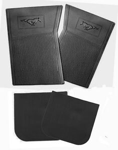 NEW! 1965-1973 Ford Mustang Black Floor mats Molded Rubber Set of 4 Front & Back