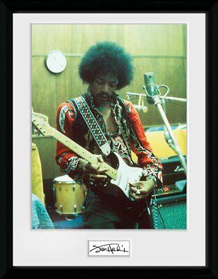 Jimi Hendrix Guitarra en la Studio Enmarcado Oficial Estampado Nuevo segunda mano  Embacar hacia Mexico
