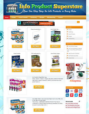 Clickbank Affiliate Store Website   New Version Fully Automatic And Customizable
