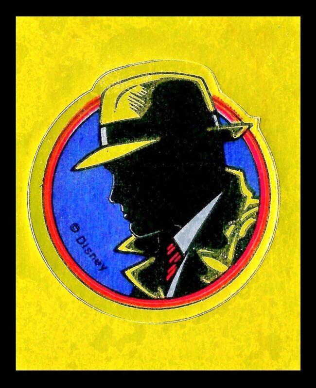 *OLD 1990(s) disney dick tracy mint/unused metalic gold foil sticker