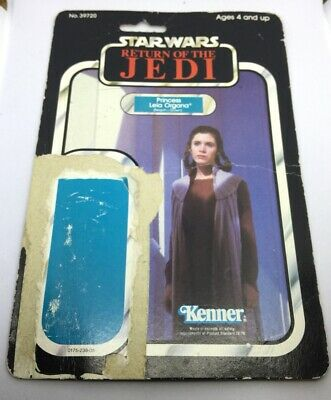VINTAGE STAR WARS ROTJ PRINCESS LEIA ORGANA CARD BACK ORIGINAL