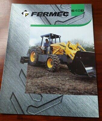 Fermec 640b Tractor With Loader Spec Sheet Heavy Machinery Brochure 3 Pp Spread