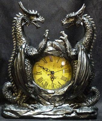 DRAGONSTAR    Dragon Clock   DWK   Statue   H11.5'' x L9'' x W5''
