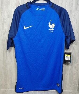 1b9f860cfdc Nike France Home Authentic Men's Soccer Jersey Nike FFF Blue Size Small NWT  90$