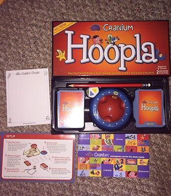 Cranium Hoopla Game - Excellent Condition- Family Party Game!