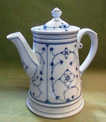 Gründerzeit Porzellan Kaffeekanne; Kornblumenmuster