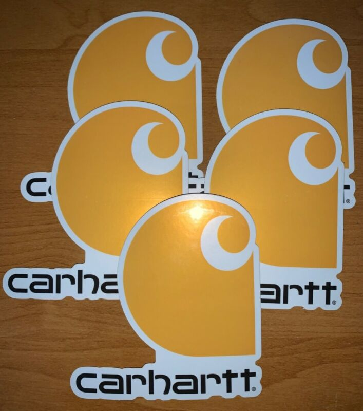 "New Carhartt Sticker x5 PACK 3.8"" x 4"" ( FREE SHIPPING )"
