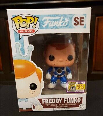 Freddy Funko Blue Ranger 2017 SDCC LE 1/525 Rare Power Ranger Funko Fundays pop