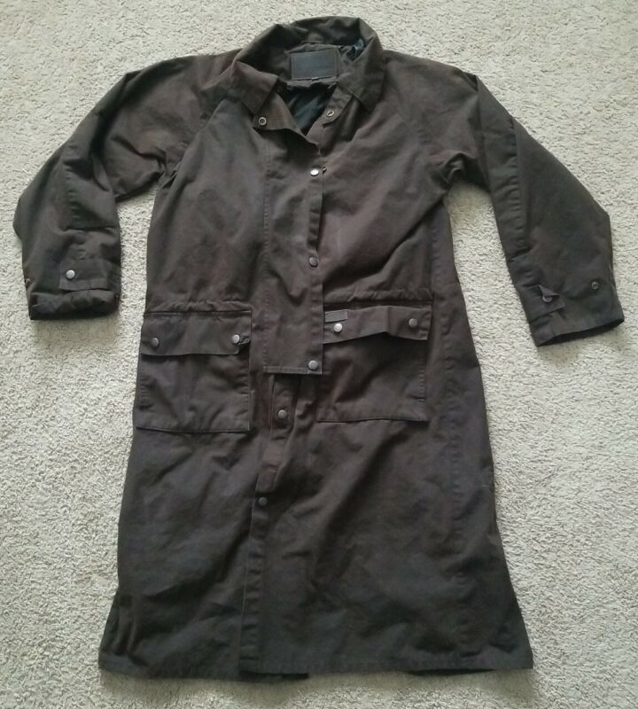 Outback Trading Low Rider Duster Oil Skin Collection Equestrian Jacket Mens Smal