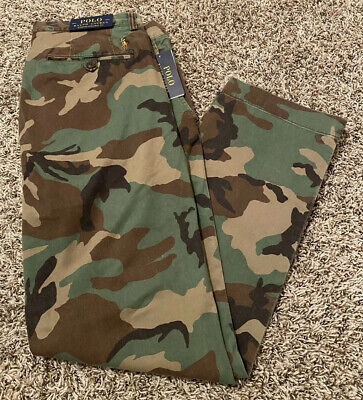 NEW Polo Ralph Lauren Camo Straight Stretch Mens Chino Pants Choose Size NWT
