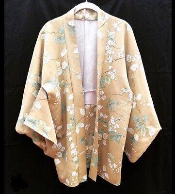 Vintage Flower Silk Kimono  Haori Jacket