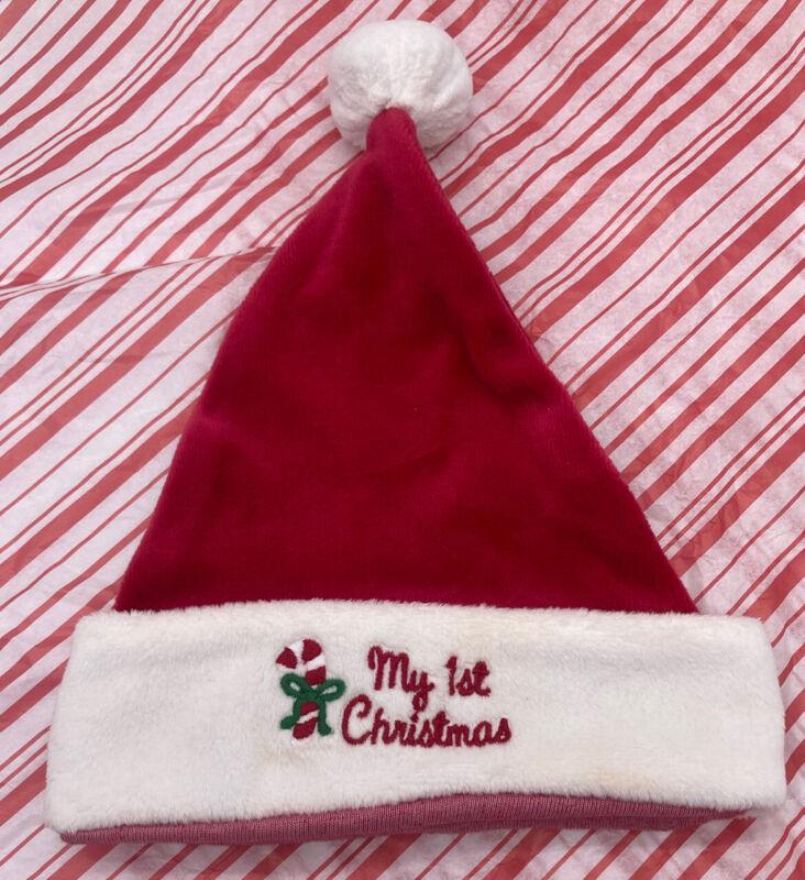 "Little Me ""My First Christmas"" Santa Hat Sz 0-3 months"