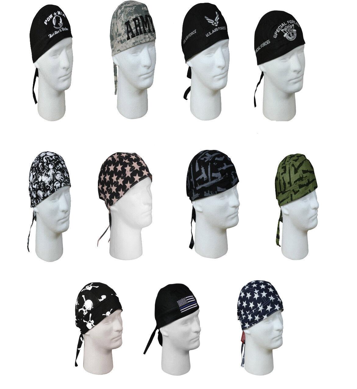 Cotton Biker Headwrap Military Patterns Do-Rag Bandanna Roth