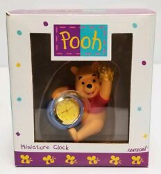 Fantasma Walt Disney Winnie The Pooh Miniature Clock Desk Office  Hunny Pot