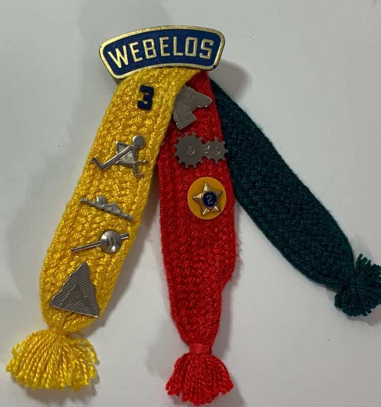 Webelos Ribbons And 8 Pins 1960s Boy Scouts Uniform