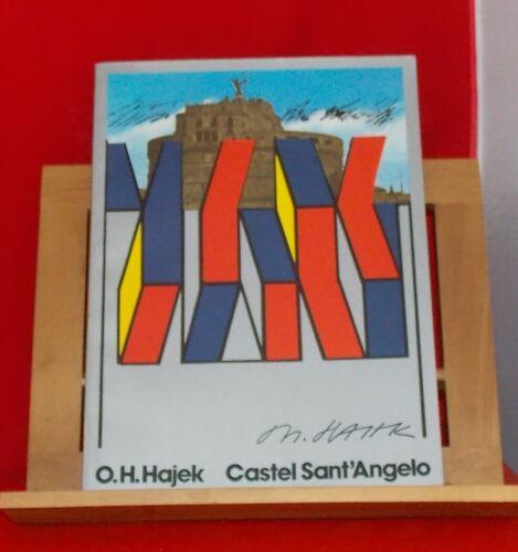 O.H. Hajek - Castel Sant'Angelo Plastiken Bilder Stadtikonographien + Graphik