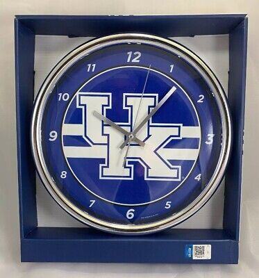Wincraft, University of Kentucky, Wildcats Chrome Round Wall Clock, New in Box ()