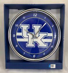 Wincraft, University of Kentucky, Wildcats Chrome Round Wall Clock, New in Box