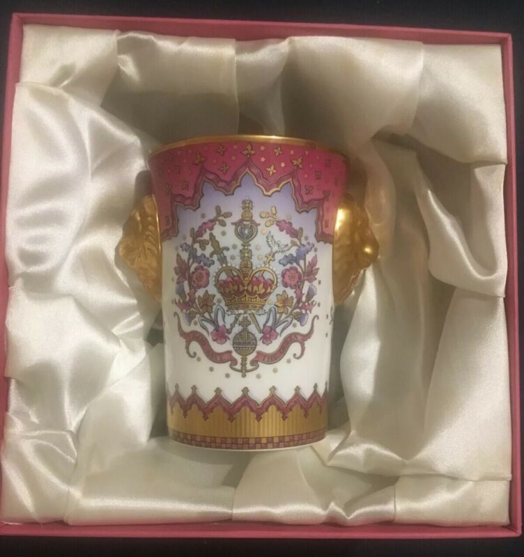 Royal Collection Queen Elizabeth II Lionhead Beaker 50th Anniversary Coronation