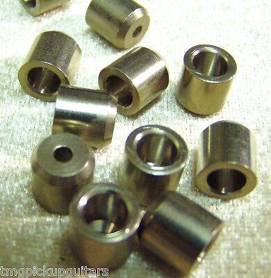 6 x Randlose Saitenbuchsen Saitenhülsen Einschlaghülsen ohne Rand 9,5 mm