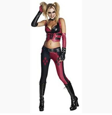 Harley Quinn Adult Costume Batman Arkham City Black - Harley Quinn Arkham City Halloween Kostüm