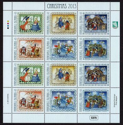 MARSHALL ISLANDS, SCOTT # 1069, SHEET OF 12 CHRISTMAS FAIRY TALES, CARTOONS 2013