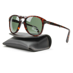 Persol 714 Folding Sunglasses 24/31 Brown Havana, Grey Crystal Lens PO0714 52mm