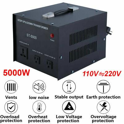 5000w Power Converter Voltage Transformer Step Down 220-230 Volt To 110v Adapter