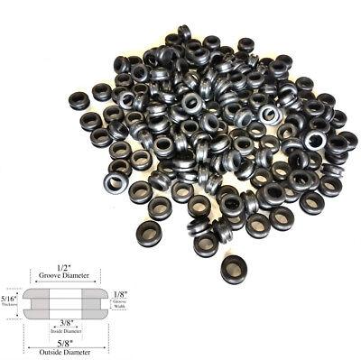 Lot Of 50 38 Inside Diameter Rubber Grommet - 18 Gw - Fits 12 Hole