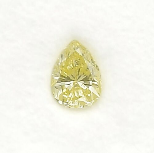 0.35Cts Fancy Yellow Loose Diamond Natural Color Pear Shape GIA Certified