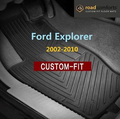Custom Fit Ford Explorer 2002-2010 Car Floor Mats Front Row Only (2pcs)