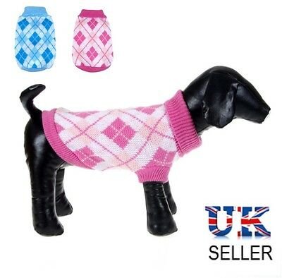 UK Dog Coats Clothes Small Puppy Chihuahua Yorkie Knit Jumper for Small Dogs (Dog Coats Uk)
