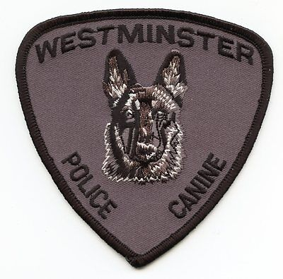 WESTMINSTER COLORADO CO Police Canine K-9 POLICE PATCH