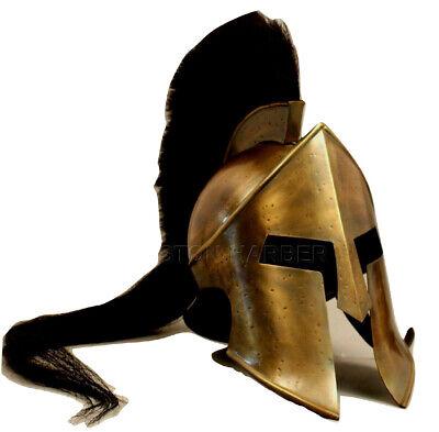 300 King Leonidas Spartan Helmet Warrior Costume Medieval Helmet LARP Gift ITEM - 300 Leonidas Costume
