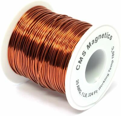 20 Awg Magnet Wire Enameled One Lb Spool W Working Temperature 356 F