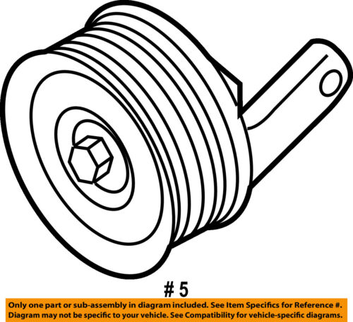 Ford Oem Serpentine Drive Belt Idler Pulley 4s7z8678a